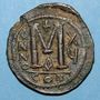 Monnaies Empire byzantin. Justinien I (527-565). Follis. Constantinople. 1ère officine, 541-542