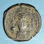 Monnaies Empire byzantin. Justinien I (527-565). Follis. Constantinople. 2e officine, 552-553
