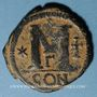 Monnaies Empire byzantin. Justinien I (527-565). Follis. Constantinople, 3e officine, 527-538