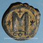 Monnaies Empire byzantin. Justinien I (527-565). Follis. Constantinople, 4e officine, 527-538