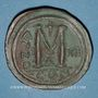 Monnaies Empire byzantin. Justinien I (527-565). Follis. Constantinople, 4e officine, 538-539