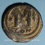 Monnaies Empire byzantin. Justinien I (527-565). Follis. Constantinople, (officine illisible), 527-538