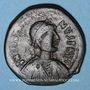 Monnaies Empire byzantin. Justinien I (527-565). Follis. Nicomédie, 2e officine, 527-537