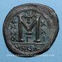 Monnaies Empire byzantin. Justinien I (527-565). Follis. Théoupolis (Antioche). 3e officine, 547-548
