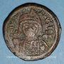 Monnaies Empire byzantin. Justinien I (527-565). Follis. Théoupolis (Antioche), 3e officine, 562-563