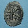 Monnaies Empire byzantin. Maurice Tibère (582-602). 1/2 follis. Constantinople, 3e officine. 582-583