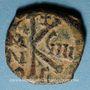 Monnaies Empire byzantin. Maurice Tibère (582-602). 1/2 follis. Constantinople, 3e officine, 590-591