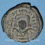 Monnaies Empire byzantin. Maurice Tibère (582-602). 1/2 follis. Cyzique, 1ère officine, 598-599