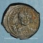 Monnaies Empire byzantin. Maurice Tibère (582-602). 1/2 follis. Théopoulis (Antioche), 586-587