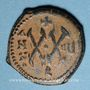 Monnaies Empire byzantin. Maurice Tibère (582-602). 1/2 follis. Théopoulis (Antioche), 587-588