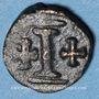 Monnaies Empire byzantin. Maurice Tibère (582-602). Décanoummion. Atelier italien incertain, 582-602