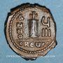 Monnaies Empire byzantin. Maurice Tibère (582-602). Décanoummion. Théoupolis (Antioche), 589-590