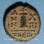 Monnaies Empire byzantin. Maurice Tibère (582-602). Décanoummion. Théoupolis (Antioche), 594-595