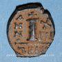 Monnaies Empire byzantin. Maurice Tibère (582-602). Décanoummion. Théoupolis (Antioche), 598-599