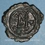 Monnaies Empire byzantin. Maurice Tibère (582-602). Follis. Constantinople, 1ère officine. 586-587