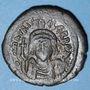 Monnaies Empire byzantin. Maurice Tibère (582-602). Follis. Cyzique, 2e officine, 585-586