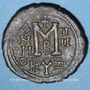 Monnaies Empire byzantin. Maurice Tibère (582-602). Follis. Cyzique, 2e officine, 585-586