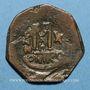 Monnaies Empire byzantin. Maurice Tibère (582-602). Follis. Nicomédie, 2e officine, 591-592