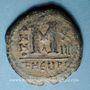 Monnaies Empire byzantin. Maurice Tibère (582-602). Follis. Théopoulis (Antioche), 1ère officine, 595-596