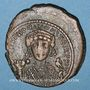 Monnaies Empire byzantin. Maurice Tibère (582-602). Follis. Théopoulis (Antioche), 3e officine, 583-584
