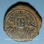 Monnaies Empire byzantin. Maurice Tibère (582-602). Follis. Théopoulis (Antioche), 3e officine, 592-593