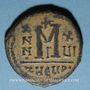 Monnaies Empire byzantin. Maurice Tibère (582-602). Follis. Théopoulis (Antioche), 3e officine, 597-598
