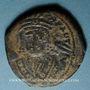 Monnaies Empire byzantin. Maurice Tibère (582-602). Follis. Théopoulis (Antioche), 3e officine, 601-602