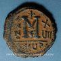 Monnaies Empire byzantin. Maurice Tibère (582-602). Follis. Théopoulis (Antioche), 5e officine, 598-599