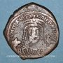 Monnaies Empire byzantin. Maurice Tibère (582-602). Follis. Théopoulis (Antioche), 6e officine, 601-602