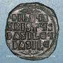 Monnaies Empire byzantin. Monnayage anonyme attribué à Basile II et Constantin VIII. Follis classe A2