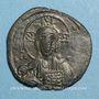 Monnaies Empire byzantin. Monnayage anonyme attribué à Basile II et Constantin VIII. Follis, classe A2