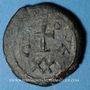 Monnaies Empire byzantin. Phocas (602-610). 1/2 follis, 1ère émission, 6e indiction. Carthage 602-603