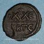 Monnaies Empire byzantin. Phocas (602-610). 1/2 follis. Carthage 606-607