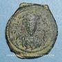 Monnaies Empire byzantin. Phocas (602-610). 1/2 follis. Nicomédie, 2e officine, 603-604