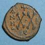 Monnaies Empire byzantin. Phocas (602-610). 1/2 follis. Théoupolis (Antioche). 602-603