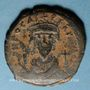 Monnaies Empire byzantin. Phocas (602-610). Follis. Constantinople, 3e officine, 606-607