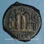Monnaies Empire byzantin. Phocas (602-610). Follis. Théoupolis. 609-610