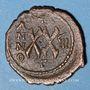 Monnaies Empire byzantin. Tibère II Constantin (578-582). 1/2 follis. Antioche, 581-582, 3ième officine