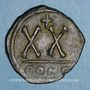 Monnaies Empire byzantin. Tibère II Constantin (578-582). 1/2 follis. Constantinople. 3e officine, 579-582