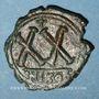 Monnaies Empire byzantin. Tibère II Constantin (578-582). 1/2 follis. Nicomédie, 2e officine, 579-582