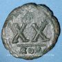 Monnaies Empire byzantin. Tibère II Constantin (578-582). 1/2 follis. Rome, 578-582