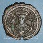 Monnaies Empire byzantin. Tibère II Constantin (578-582). Follis. Constantinople, 2e officine. 580-581