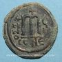 Monnaies Empire byzantin. Tibère II Constantin (578-582). Follis. Constantinople. 5e officine, 581-582