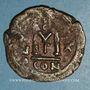 Monnaies Héraclius (610-641) et Héraclius Constantin (613-631) Follis. Constantinople, 1ère officine, 629-630