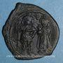 Monnaies Héraclius (610-641) et Héraclius Constantin (613-631) Follis. Constantinople. 3e officine, 629-630