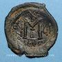 Monnaies Héraclius (610-641) et Héraclius Constantin. Follis. Séleucie d'Isaurie, 2e officine 616-617