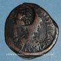 Monnaies Héraclius (610-641). Follis. Sicile. Contremarqué sur un follis de Justinien I (619-629