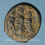 Monnaies Héraclius avec son fils Héraclius Constantin & Martine. Follis. Constantinople, 4e officine, 626-627