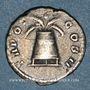 Monnaies Antonin le Pieux (138-161). Denier. Rome, 139. R/: modius avec deux épis et un pavot