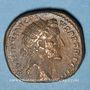 Monnaies Antonin le Pieux (138-161). Dupondius. Rome, 153-154. R/: la Liberté debout à droite